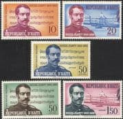 Haiti 1960 Occide Jeanty/ Anthem/ Musicians/ Composers/ Music/ Score/ Buildings/ Architecture 5v set (n45031)