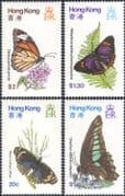 Hong Kong 1979 Butterflies/ Insects/ Nature/ Conservation/ Butterfly 4v set (b2713)