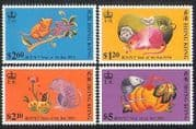 Hong Kong 1996 YO Rat  /  Greetings  /  Animals  /  Lunar Zodiac  /  Luck  /  Fortune 4v set n38505