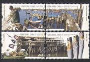 Hong Kong 2005 Fishing Villages  /  Boats  /  Food  /  Harbour  /  Transport 4v set (n35583)