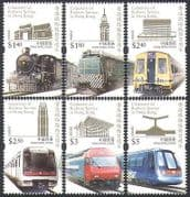 Hong Kong 2010 Trains  /  Steam  /  locomotives  /  Railways  /  Rail  /  Transport 6v set  (n35919)