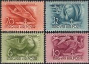 Hungary 1941 Planes/ Glider/ Pilot/ Aviation/ Transport/ Horthy Fund 4v set (n45365)