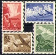Hungary 1942 Horthy Aviation Fund/ Planes/ Aircraft/ Horses/ Bird 4v set (n28491)
