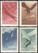 Hungary 1943 Planes/ Gliders/ Sea Eagle/ Aircraft/ Aviation/ Birds/ Transport/ Horthy Air Fund 4v set (n28490)