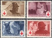 Hungary 1944  Red Cross/ Medical/ Health/ Welfare/ Nurses/ Soldiers  4v set (n25928)