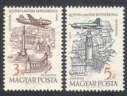 Hungary 1958 Air Mail  /  Planes  /  Aviation  /  Aircraft  /  Buildings  /  Architecture 2v n34950