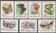 Hungary 1959 Butterflies  /  Moths  /  Nature  /  Insects  /  Butterfly 7v set (n34866)
