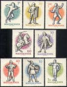 Hungary 1959 World Fencing Championships/ Sports/ Games/ Military/ Cavalry/ Horses 8v set (n45588)