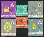 Hungary 1961 Health  /  Medical  /  Red Cross  /  Welfare  /  Ambulance  /  Transport 6v set n31464