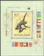 Hungary 1962 Football World Cup Championships, Chile/ WC/ Sports/ Games/ Soccer? Maps/ Flags 1v m/s (s1635a)