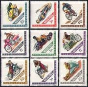 Hungary 1962 Motor Sports  /  Cars  /  Bikes  /  Racing  /  Motorcycles  /  transport 9v set n34450