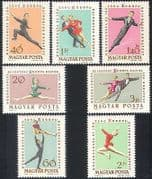 Hungary 1963 Figure Skating  /  Ice Dancing  /  Sports  /  Games  /  Flags 7v set (n40315)