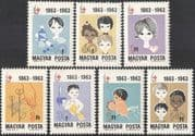 Hungary 1963 Red Cross 100th/ Centenary/ Medical/ Health/ Welfare/ Medicine/ Dentistry/ Nurses 7v set (n34944)