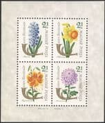 Hungary 1963 Stamp Day/ Flowers/ Plants/ Nature/ Narcissus/ Tiger Lily/ Hyacinth 4v m/s (n39962)