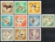 Hungary 1964 Olympic Games  /  Olympics  /  Sports  /  Horses  /  Football  /  Boxing 10v set n40371