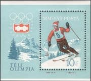 Hungary 1964 Winter Olympic Games/ Olympics/ Downhill Skiing/ Sports/ Ski/ Skier 1v m/s (n45527)
