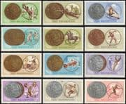 Hungary 1965 Olympic Games/ Olympics/ Sports/ Medals/ Shooting/ Football/ Fencing/ Canoe/ Wrestling 12v set (n44755)