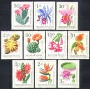 Hungary 1965 Orchids/ Cactus/ Cacti/ Succulents/ Flowers/ Plants/ Nature 10v set (n36714)