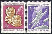 Hungary 1965 Space Flight  /  Voskhod  /  Astronauts  /  Rocket  /  Transport 2v set (n34687)