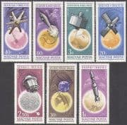 Hungary 1965 Space  /  Rockets  /  Satellites  /  Research  /  Radio  /  Communication 7v set n34966