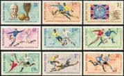Hungary 1966 Football World Cup Championships/ WC/ Soccer/ Sports/ Games 9v set (n44754)