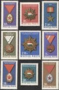 Hungary 1966 Medals/ Orders/ Honours/ Military Decorations/ Red Banner/ Ribbons 9v set (n45434)