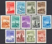 Hungary 1966 Planes  /  Aviation  /  Buildings  /  Architecture  /  Transport 13v set (n34983)