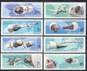 Hungary 1966 Twin Space Flights  /  Rockets  /  Astronauts  /  Transport 8v set (n36804)