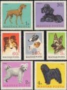 Hungary 1967 Collie/ Alsatian/ Poodle/ Pointer/ Fox Terrier/ Puli/ Pumi/ Sheep Dogs/ Pets/ Working Animals/ Nature 7v set (n45600)