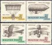 Hungary 1967 Planes/ Aircraft/ Air Balloon/ Helicopter/ Aviation/ Transport/ Flight 4v set (n30543)