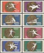 Hungary 1969 Olympic Games/ Gold Medals/ Sports/ Football/ Fencing 8v set (n44855)
