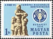 Hungary 1970 FAO/ Food/ Wheat Emblem/ Statue/ Sculpture/ Art/ Freedom From Hunger/ FFH 1v (n28469)