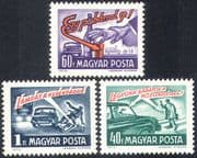 Hungary 1973 Car/ Bike/ Safety/ Drink/ Transport/ Driving/ Bicycle/ Cycling/ Alcohol 3v (n28513)