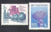 Hungary 1974 Space  /  Chemical Industry  /  Radio  /  Power  /  Energy  /  Electricity 2v (n34940)