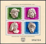 Hungary 1976 Stamp Day  /  Gothic Statues  /  Art  /  Sculture  /  Carving  /  History 4v m  /  s n40372
