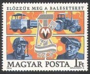 Hungary 1976 Workers  /  Welder  /  Industrial Safety  /  Tractor  /  Truck  /  Transport 1v n34990