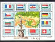 Hungary 1977 Boats/ Ships/ Paddle-steamers/ Transport/ River Danube/ National Flags 11v m/s (n36743)