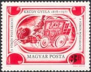 Hungary 1978  Gyula Krudy/ Writer/ Author/ Literature/ Books/ People/ Stage Coach/ Transport 1v (n45462)