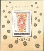 Hungary 1980 Stamp Day/ Drinking Glass/ Glassware/ Art/ Commerce/ Industry 1v m/s (n45528)