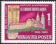 Hungary 1980 Tihany Abbey/ Scroll/ Buildings/ Architecture/ Heritage/ History 1v (n45618)