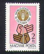 Hungary 1981 FAO  /  Food  /  Wheat  /  Hands  /  World Food day  /  Freedom from Hunger 1v (n34993)