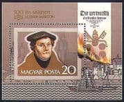 Hungary 1983 Martin Luther  /  People  /  Religion  /  Boats  /  Flames  /  Fire 1v m  /  s (n34460)
