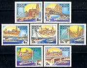 Hungary 1985 Bridges  /  Boats  /  Architecture  /  Engineering  /  Danube 7v set (n29410)