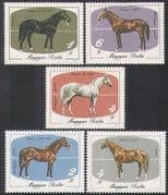 Hungary 1985 Horses  /  Domestic Animals  /  Nature  /  Transport  /  Sport 5v set (n35342)