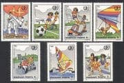 Hungary 1985 Sports  /  Games  /  Youth  /  Football  /  Karate  /  Hang Gliding  /  Go-kart 7v (n34709)