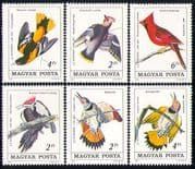 Hungary 1985 Woodpecker/ Waxwing/ Oriole/ Cardinal/ Birds/ Nature/ Audubon/ Art 6v set (n29400)