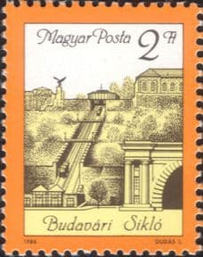 Hungary 1986 Buda Castle Funicular Railway/ Cable/ Rail/ Trains/ Transport/ Castles 1v (hx1193)