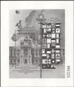 Hungary 1986 European Security/ Palace/ Buildings/ Architecture/Flags/ BLACK Print Limited Issue ex Year Book 1v m/s (b1550d)
