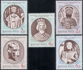 Hungary 1986  Historical Kings/ Royalty/ People/ History/ Heritage  5v set (hx1195)
