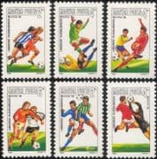 Hungary 1986 Sports/ Games/ Football/ World Cup/ WC/ Animation/ Soccer 6v set (s1640)